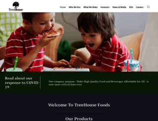 treehousefoods.com screenshot