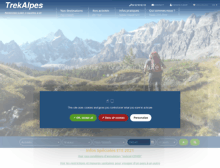 trekalpes.com screenshot