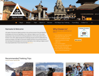 trektournepal.com screenshot