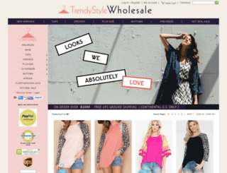 trendystylewholesale.com screenshot