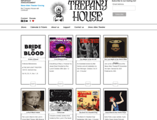 trepanyhouse.org screenshot