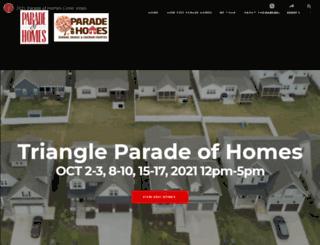 triangleparadeofhomes.com screenshot