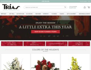 triasflowers.com screenshot