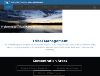 tribalmgmt.uaf.edu screenshot