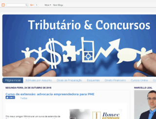 tributarioeconcursos.com screenshot