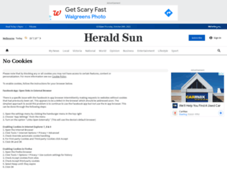 tributes.heraldsun.com.au screenshot