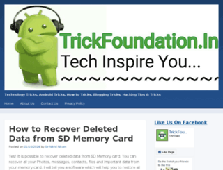 trickfoundation.in screenshot