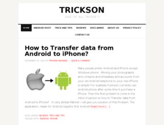 trickson.com screenshot