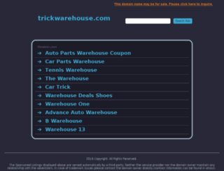 trickwarehouse.com screenshot