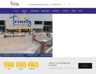 trinitybaptist.org.uk screenshot