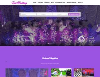 triniweddingsevents.com screenshot