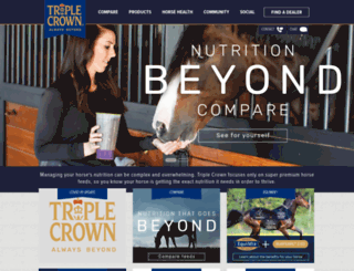 triplecrownfeed.com screenshot