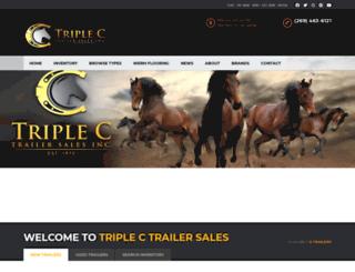 triplectrailersales.com screenshot
