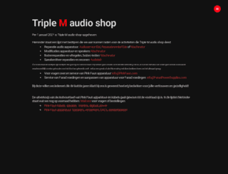 triplemaudioshop.nl screenshot