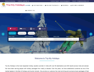 tripmyholidays.com screenshot