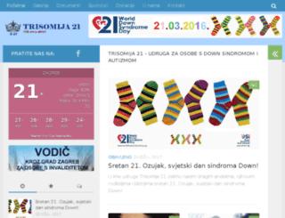 trisomija21.org screenshot
