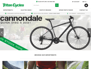 tritoncycles.co.uk screenshot