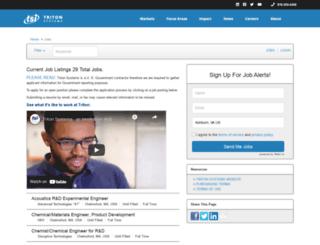 tritonsystems.applicantpro.com screenshot