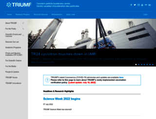 triumf.ca screenshot