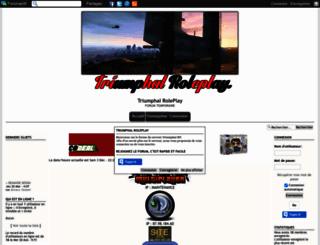 triumphalrp.forumgratuit.be screenshot