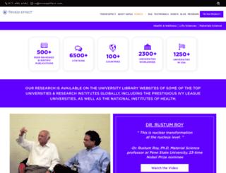 trivediscience.com screenshot