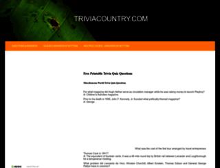 triviacountry.com screenshot