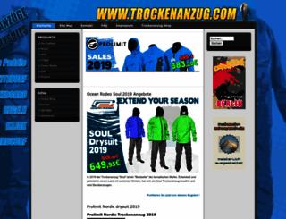 trockenanzug.com screenshot