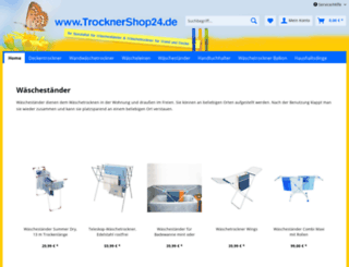 trocknershop24.de screenshot