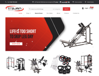 trojanfitness.com.au screenshot