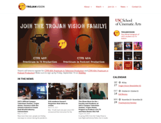 trojanvision.usc.edu screenshot