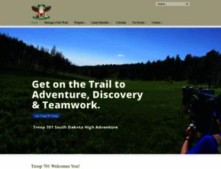 troop701.com screenshot