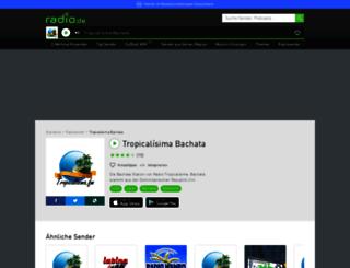 tropicalisimabachata.radio.de screenshot
