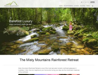 tropicalrainforestretreat.com.au screenshot
