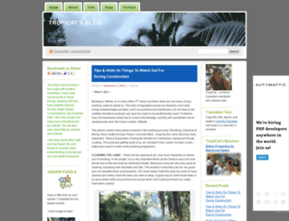 tropicat.wordpress.com screenshot