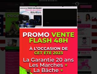 tropicspa.fr screenshot