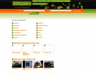 trouver-un-professionnel.com screenshot
