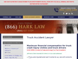 truckcrashattorney-nj.com screenshot