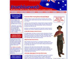 trueblueweb.com.au screenshot