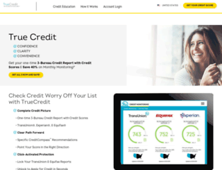 truecredit.com screenshot