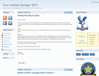 truefootballmanager.com screenshot