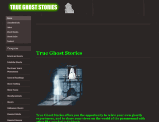 trueghoststories.co.uk screenshot