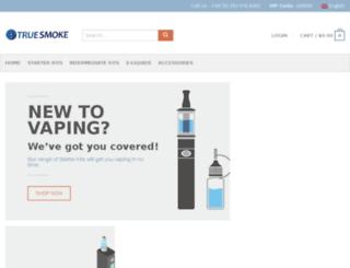 truesmoke.co.uk screenshot
