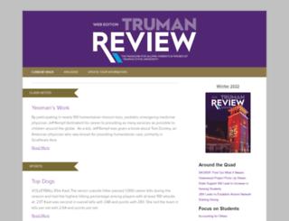 trumanreview.truman.edu screenshot