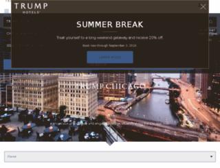 trumpchicagohotel.com screenshot