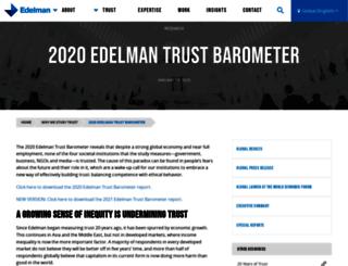 trust.edelman.com screenshot