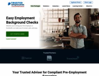 trustedemployees.com screenshot