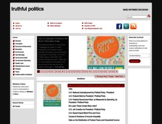 truthfulpolitics.com screenshot