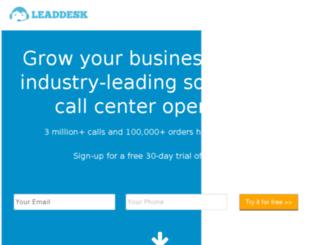 try.leaddesk.com screenshot