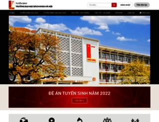 ts.hust.edu.vn screenshot