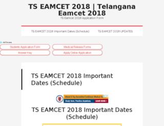 tseamcet.tspsc.net screenshot
